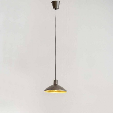 Lampa wisząca z antycznej stali o średnicy 310 mm - Materia Aldo Bernardi