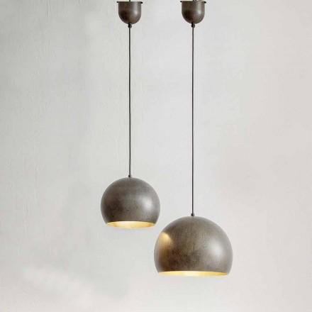 Lampa zwieszana ze stali o średnicy 300 lub 400 mm - Materia Aldo Bernardi