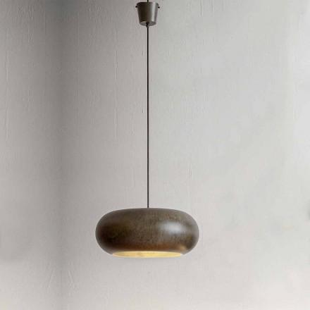 Lampa zwieszana ze stali o średnicy 500 mm - Materia Aldo Bernardi
