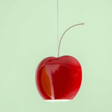 Zawieszona lampa ceramiczna w kolorze wiśni - owoce Aldo Bernardi