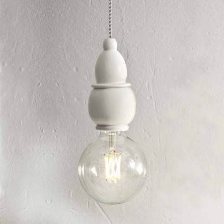 Ceramiczna lampa wisząca Shabby Chic z kablem 3 m - Fate Aldo Bernardi