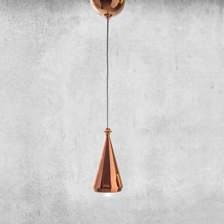 Designerska lampa wisząca LED z ceramiki - Lustrini L2 Aldo Bernardi