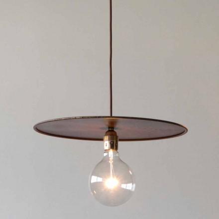 Podwieszana lampa żelazna z bawełnianym sznurkiem Artisan Made in Italy - Ufo