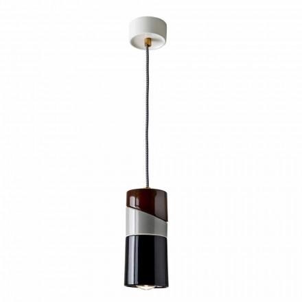 Lampa wisząca z mosiądzu i nowoczesne kolorowe ceramiczne wykonane we Włoszech w Azji