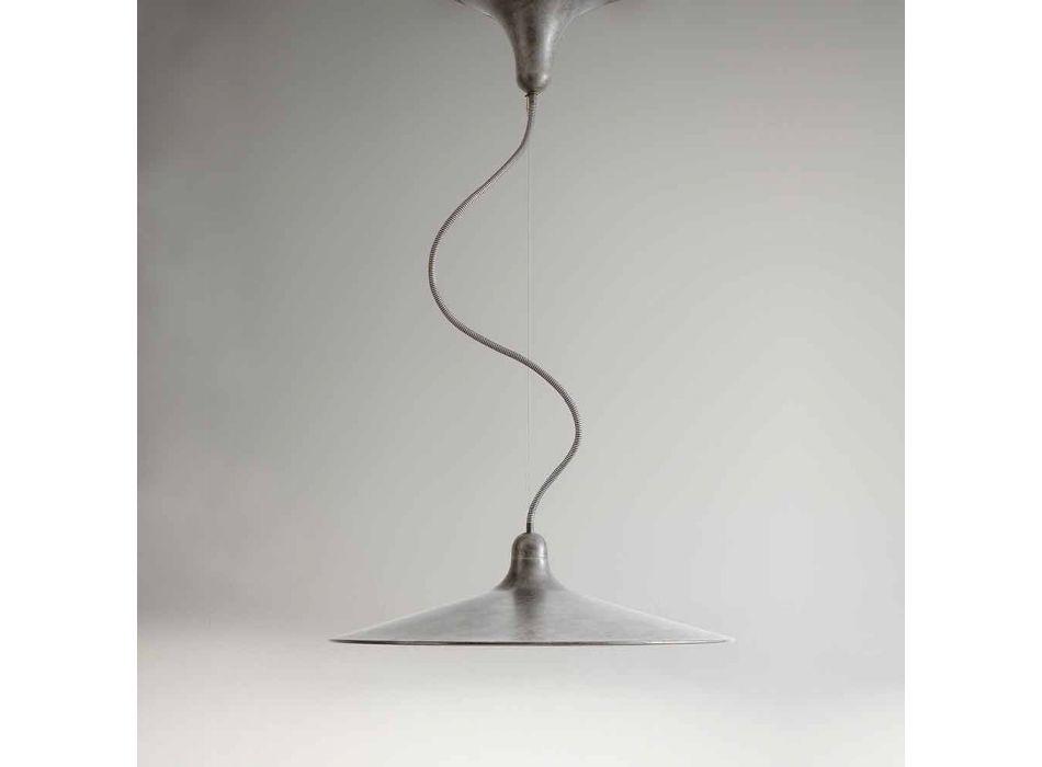 Aluminiowa lampa wisząca w stylu vintage Made in Italy - Sassmaòr