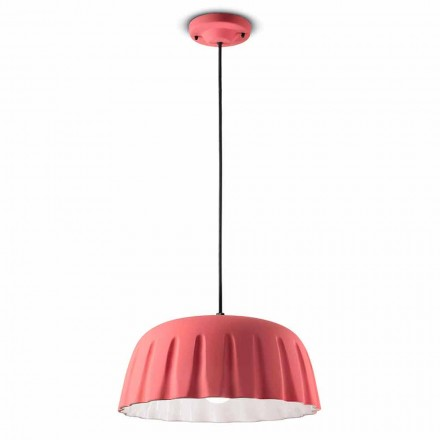 Klasyczna ceramiczna lampa wisząca Made in Italy - Ferroluce Madame Grès
