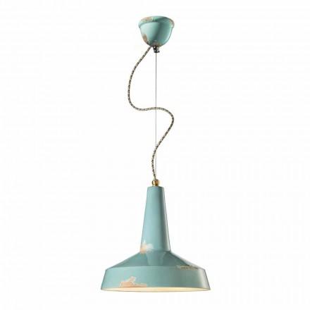 Lampa wisząca styl retro ceramiczna Ferroluce