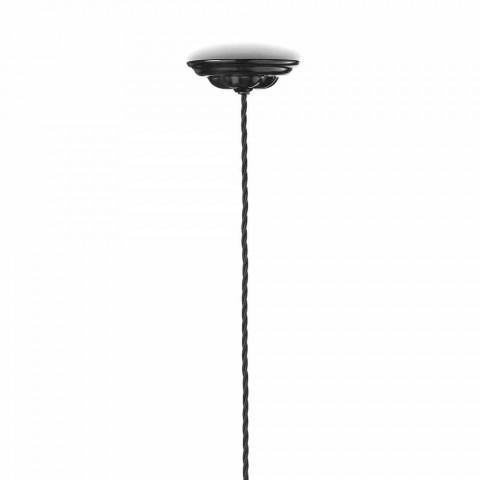 Lampa Vintage polerowanego zawieszenia ceramiczne i złote śruby Betty