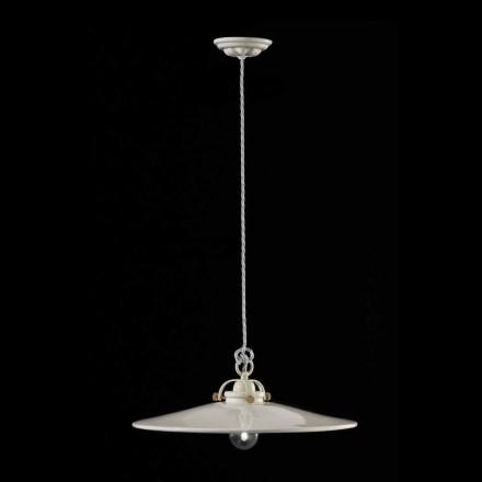 Lampa wisząca ceramiczna z połyskiem Betty Ferroluce
