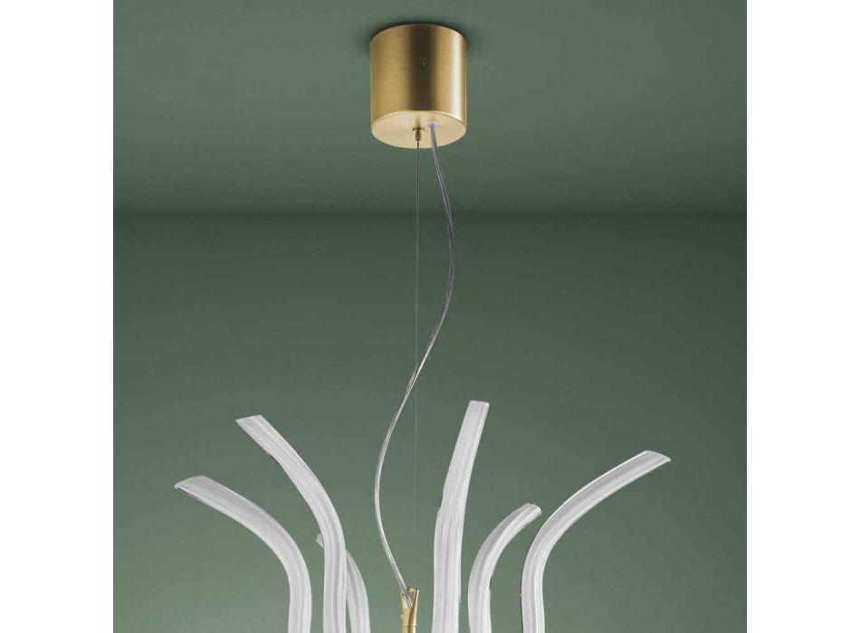 6 jasny żyrandol ze szkła weneckiego ręcznie robiony we Włoszech - Antonietta