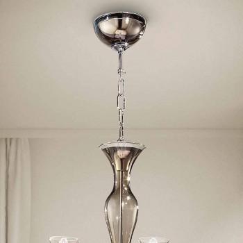 Artisan 8-lekki żyrandol z wędzonego szkła weneckiego Made in Italy - Vittoria
