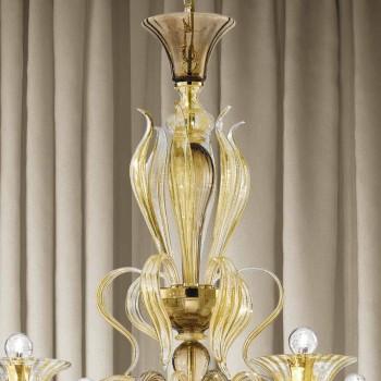 Artisan 6 jasny żyrandol ze szkła weneckiego Made in Italy - Agustina