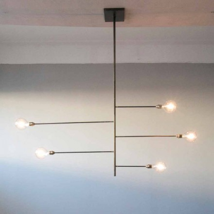 Żyrandol Artisan Design o konstrukcji żelaznej Made in Italy - Tinna