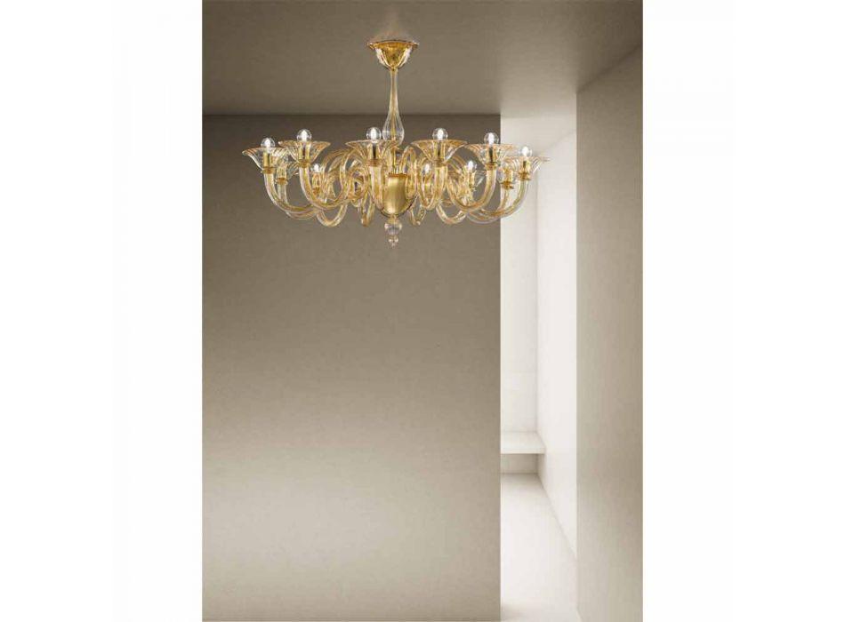 12 świateł Ręcznie robiony żyrandol ze szkła weneckiego Made in Italy - Margherita
