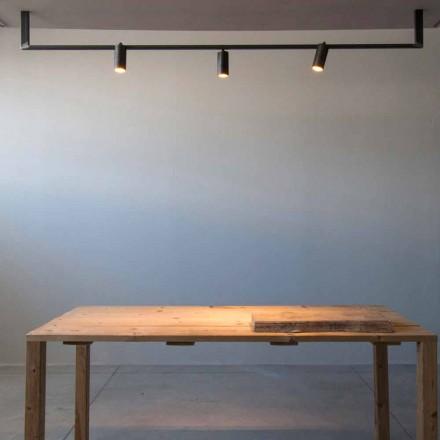 Nowoczesny żyrandol wykonany ręcznie z czarnego żelaza Made in Italy - Pampeluna