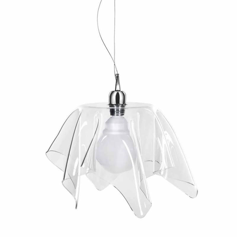 Designerski przezroczysty żyrandol z drapowaną Daphne wyprodukowaną we Włoszech