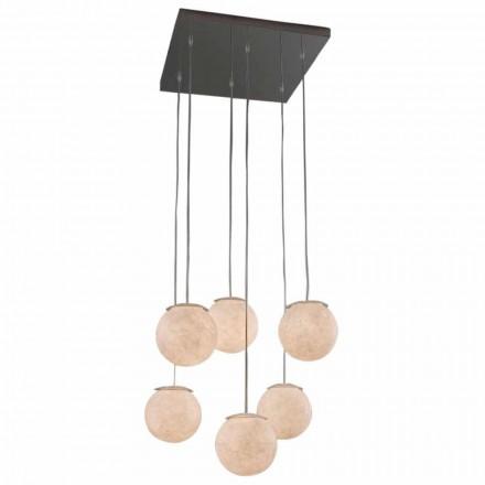 Nowoczesny design żyrandola In-es.artdesign Sei Lune w nebulicie