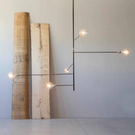 Nowoczesny, ręcznie robiony żyrandol o żelaznej konstrukcji Made in Italy - Tinna