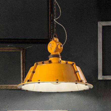 Lampa wisząca vintage ceramiczna model Jullian Ferroluce