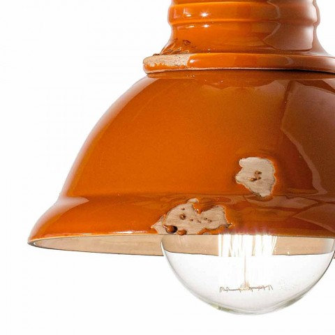 Żyrandol rocznika projektowania ceramiki ręcznie Cameron Ferroluce