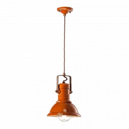 Lampa wisząca vintage ceramiczna Cameron Ferroluce, produkt rzemiosła