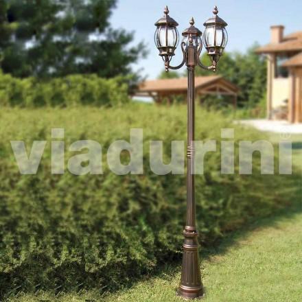 Zewnętrzna latarnia z dwoma światłami wykonana z aluminium, wyprodukowana we Włoszech, Anika