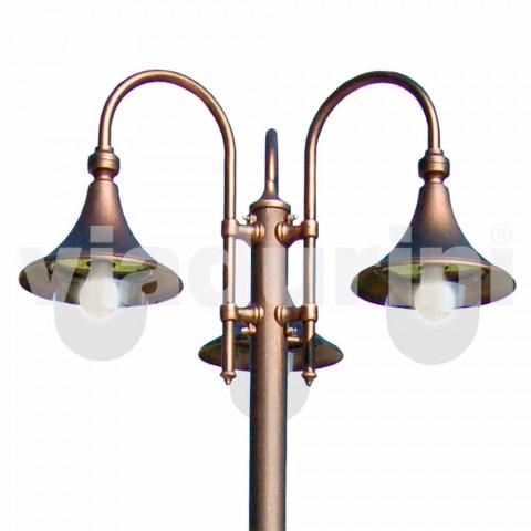 Zewnętrzna trzy-lekka aluminiowa lampa uliczna wyprodukowana we Włoszech, Anusca