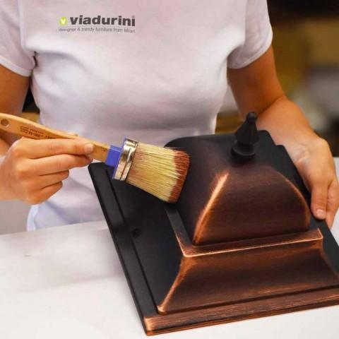 Lampa zewnętrzna z trzema światłami z aluminium, wyprodukowana we Włoszech, w Anusca