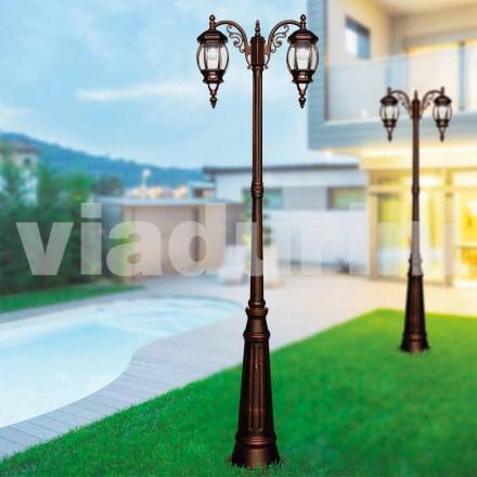 Klasyczna latarnia zewnętrzna wykonana z odlewanego ciśnieniowo aluminium, wyprodukowana we Włoszech, Anika