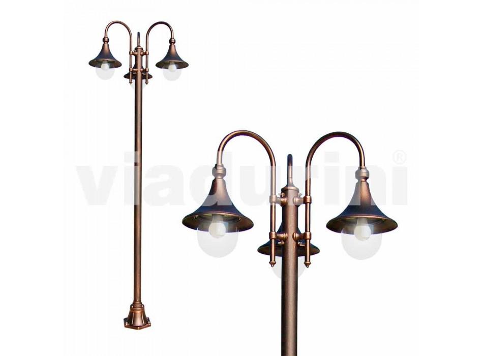 Zewnętrzny słupek lampy z odlewanego ciśnieniowo aluminium produkowanego we Włoszech, Anusca