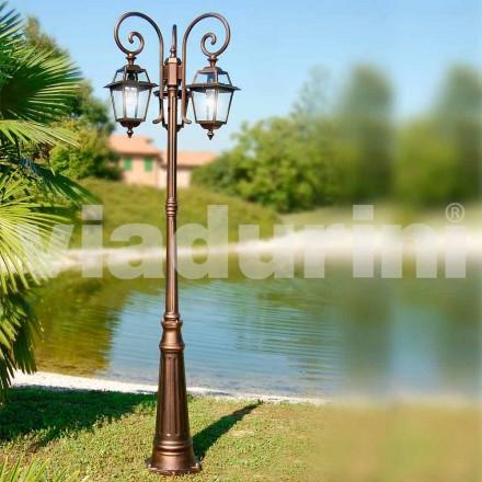 Trójścienna latarnia ogrodowa wykonana z aluminium, wyprodukowana we Włoszech, Kristel