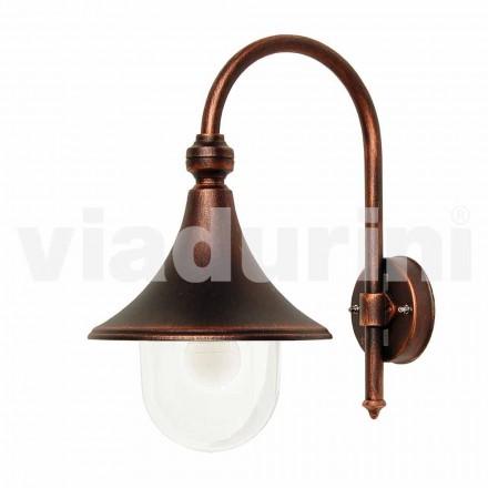 Zewnętrzna lampa ścienna z odlewanego aluminium wykonana we Włoszech w Anusca
