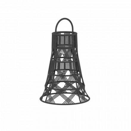 Zewnętrzna latarnia LED z liny i luksusowego aluminium - Tribal od Talenti