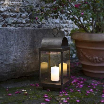 Lampiony ogrodowe z żelaza o mosiądzu ze świecą od Il Fanale
