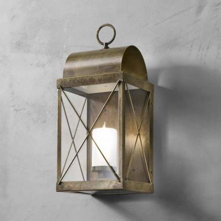 Mała latarnia zewnętrzna mosiądz/żelazo od Il Fanale