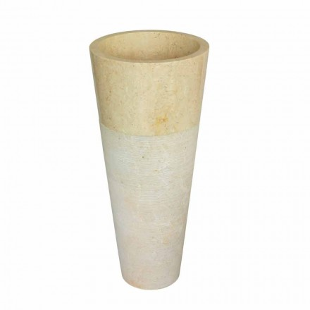 Umywalka kamienna kolumna stożkowa naturalny beż Raja