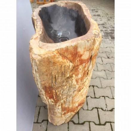Zlewozmywak cokołowy design w kolorze Ley z naturalnego kamienia, ręcznie robiony