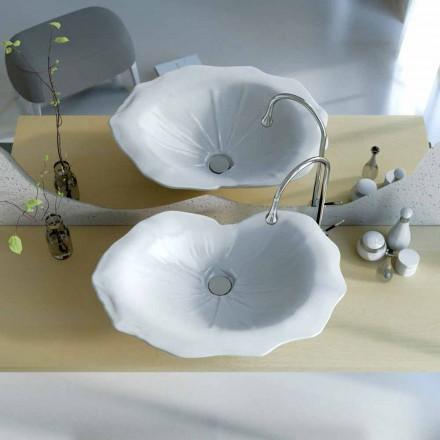 Umywalka nablatowa design w kształcie liścia Faruglium