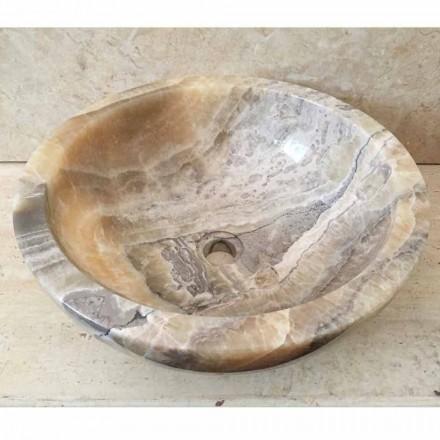 Umywalka z onyksu nablatowa design Ana, wykonana ręcznie