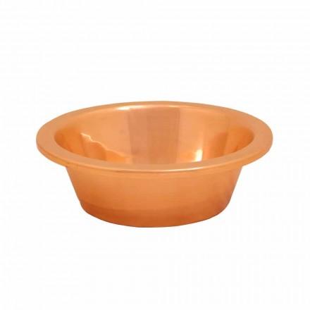 Umywalka nablatowa z miedzi wykonana ręcznie, Sole