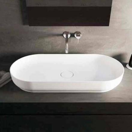 Nowoczesna umywalka nablatowa Dalmine Maxi, wykonana we Włoszech