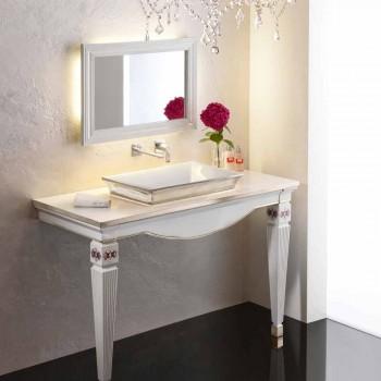 Umywalka w łazience z częściowo wpuszczoną glinką i platyną wykonana we Włoszech, Guido
