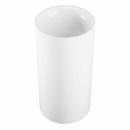 Cylindryczna wolnostojąca umywalka podłogowa produkowana we Włoszech, Rumo