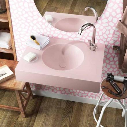Umywalka z okrągłym zawieszeniem w Luxolid wyprodukowana we Włoszech, Ruffano
