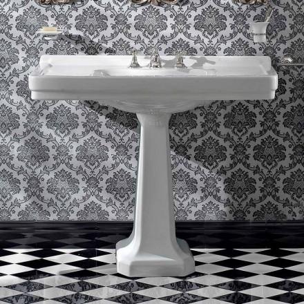 Umywalka na konsolę na ceramicznej kolumnie w stylu vintage Made in Italy - Marwa