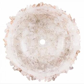 Nowoczesna okrągła umywalka nablatowa z Geodi - Bomporto