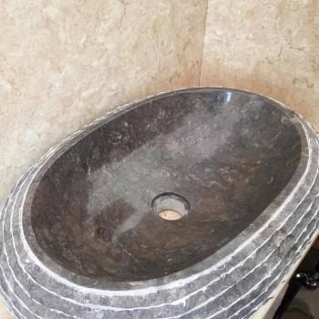 Ewa ciemnoszara umywalka, jednoczęściowa