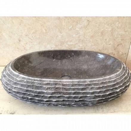 Ciemnoszara umywalka Ewa, unikalny wzór