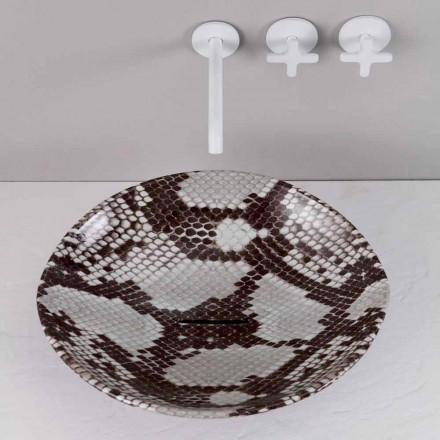 Umywalka ceramiczna wężowa design made in Italy Animals