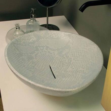 Umywalka nablatowa design ceramika biała made in Italy Animals